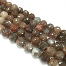Natural mėnulio stone beads, 8 mm., 1 strand