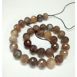 Natural mėnulio stone beads, 8 mm., 1 strand