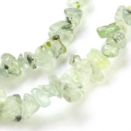 Natural Prehnito beads, 4-18x3-10 mm., 1 strand