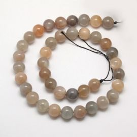 Natural Moon stone beads, 8 mm., 1 strand