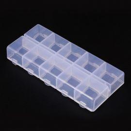 Plastic box, 130x60x5 mm., 1 pcs.