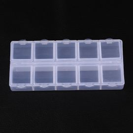 Plastic box, 130x60x5 mm., 1 pc