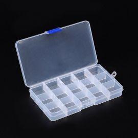 Plastikinė dėžutė karoliukams 180x100 mm, 1 vnt.