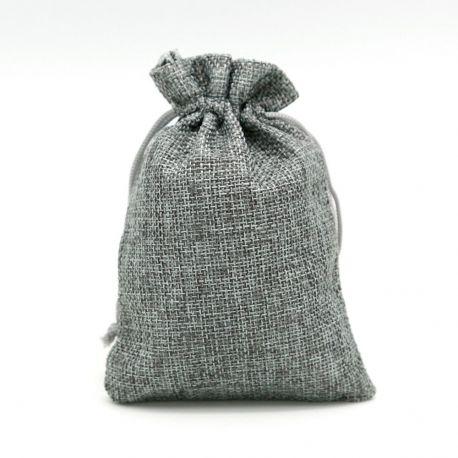 Drobinis dekoratyvinis maišelis, pilkos spalvos, 13x9 cm, 1 vnt.