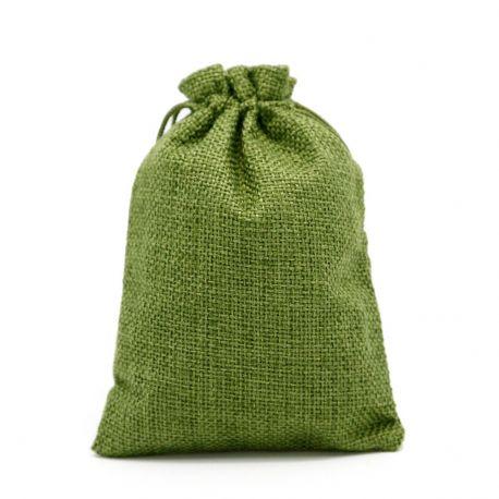 Drobinis dekoratyvinis maišelis, chaki spalvos, 13x9 cm, 1 vnt.