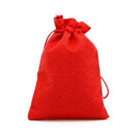 Drobinis dovanų maišelis skirtas supakuoti suvenyrams papuošalams, smulkmenoms. Raudonos spalvos, kaina - 0,95 Eur už 1 vnt.