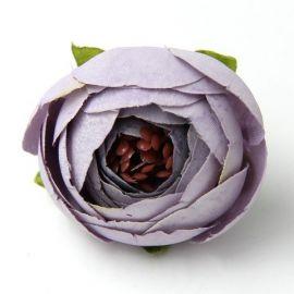 Dekoratyvinė puošni medžiaginė gėlytė, violetinės spalvos, 30 mm.