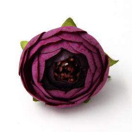 Dekoratyvinė puošni medžiaginė gėlytė, ryškios violetinės spalvos