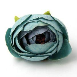 Dekoratyvinė medžiaginė gėlytės skirta papuošalų, rankdarbių gamyboje. Mėtinės spalvos