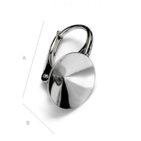 Auskarų kabliukai 925 Swarovski 1122 10 mm kristalams, 16,5x10 mm 1 pora