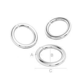 Open jump Ring 925, 6,40 mm 4 pc.