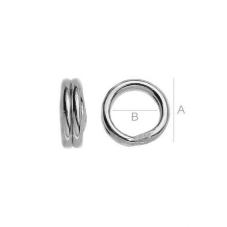 Dvigubas žiedelis 925, 5 mm 6 vnt.