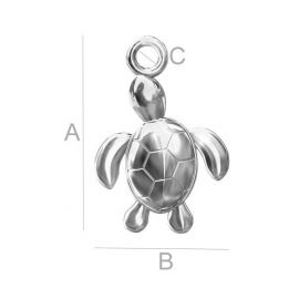 "Pendant ""Turtle"" 925, 16x11 mm 1 pc."