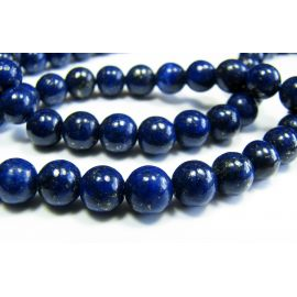 Lapis Lazuli karoliukai 6 mm A klasės, 1 vnt.