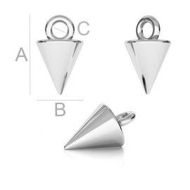 Užbaigimo pendant 925, 9x5,5x1,7 mm 1 pc.