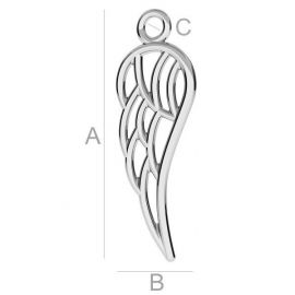 "Pendant ""Wing"" 925, 29,5x10x1,7 mm 1 pc."