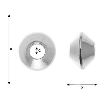 Intarpas 925, 3,3x2,1 mm 6 vnt.