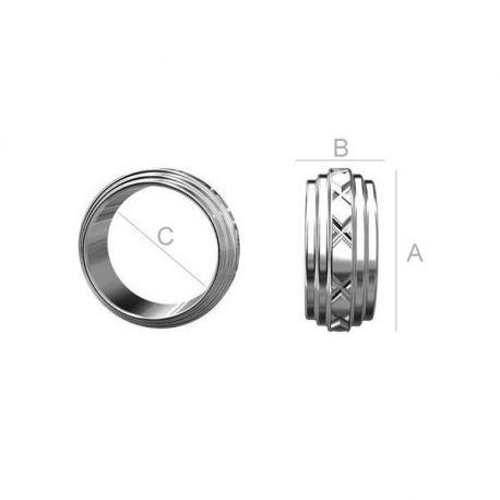 Intarpas-Žiedelis 925, 9x3x7 mm 2 vnt.