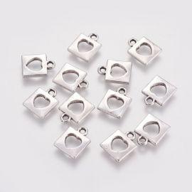 "Pendant ""Lock"", 14x11x2 mm, 4 units, 1 bag"