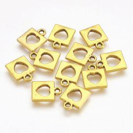 """Pakabukas """"Spynelė"""". Sendintos aukso spalvos dydis 14x11x2 mm"""