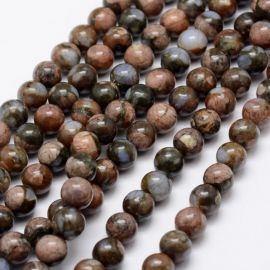 Natūralūs Afrikos Opalo karoliukai, 8 mm, 1 gija
