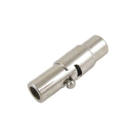 Magnetinis užsegimas. Platinos spalvos dydis 15x4 mm