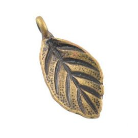 "Pendant ""leaf"", 18x8x1 mm 4 pc."