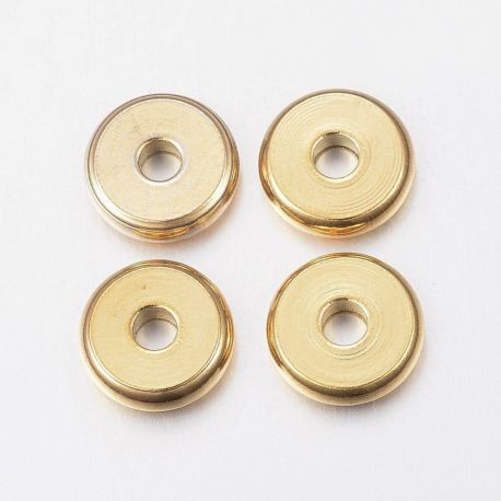 Nerūdijančio plieno 304 intarpas. Aukso spalvos dydis 10x2,5 mm