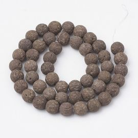 Natural Lava beads, 8-8,5 mm, 1 strand