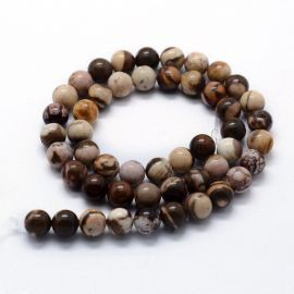 Natural Zebrinio Jasper beads, 8 mm, 1 strand