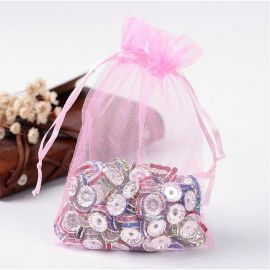 Organza bags, 15x10 cm, 5 pc., 1 package