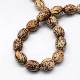 Bodhi beads, 13-15x11-12 mm, 4 pieces, 1 bag