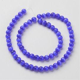 Cat eye beads, 8 mm, 1 strand