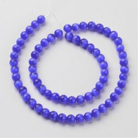 Cat eye beads, 8 mm, 1 strand
