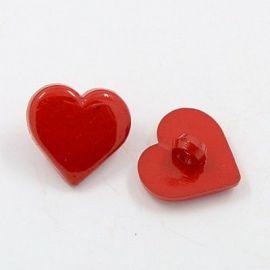"Akrilinė saga ""Heart"", 17x17x3 mm, 4 pc., 1 bag"