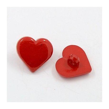 """Akrilinė saga """"Širdelė"""". Raudonos spalvos dydis 17x17x3 mm"""
