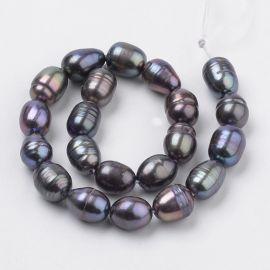 Freshwater pearls, 7-10x5-7 mm, 1 thread