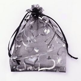 Organza bags, 9x7 cm, 5 pc., 1 package