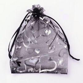 Organzos maišeliai, 9x7 cm, 5 vnt., 1 pakuotė