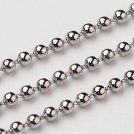 Nerūdijančio plieno 304 burbulinė Chain, 1,5 mm, ~10 meters, 1 spool