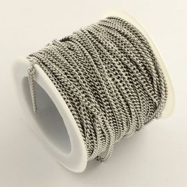 Nerūdijančio plieno 304 Chain, 2,7x2x0,5 mm, ~10 meters, 1 spool