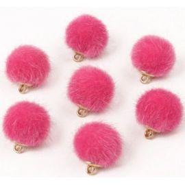 Kailiniai bumbuliukai. Ryškiai rožinės spalvos dydis 18x16 mm
