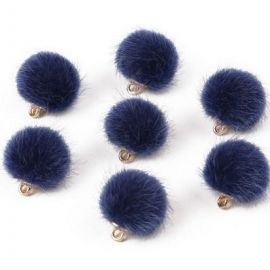 Fur bumblebees. Blue size 18x16 mm