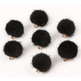 Fur bumblebees. Black size 18x16 mm