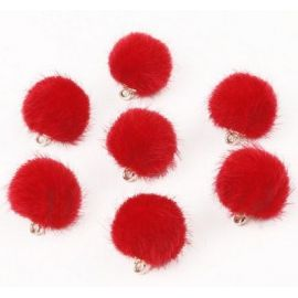 Fur bumblebees. Red size 18x16 mm