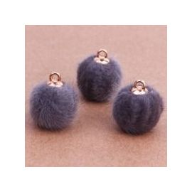 Fur bumblebees, 18x16 mm, 2 pcs., 1 bag