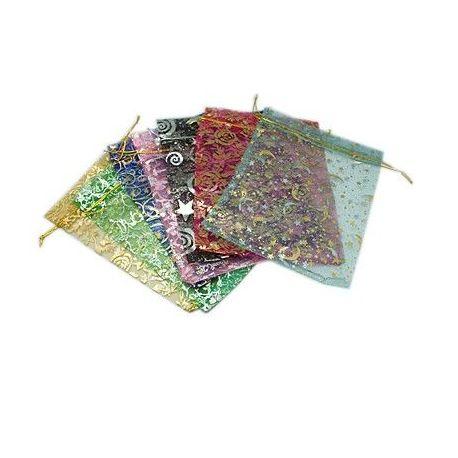 Organzos maišeliai, 19-20x14-15 cm, 5 vnt., 1 pakuotė