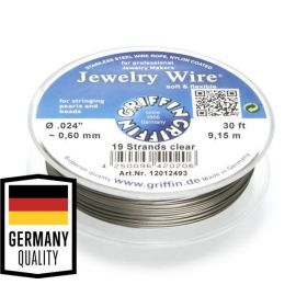 GRIFFIN stainless steel jewelry wire, 0.60 mm, 1 spool