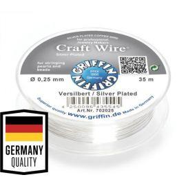 GRIFFIN varinė jewelry wire, 0.25 mm, 1 spool