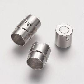 Žalvarinis magnetinis užsegimas. Platinos spalvos dydis 19x12 mm rankdarbiams